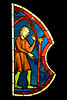 Musée de Cluny, Paris, France, stained glass window from Sainte Chapelle