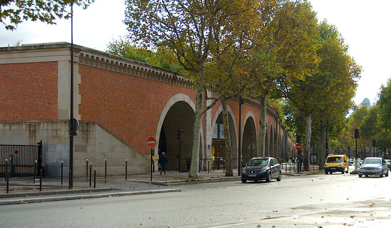 Paris Viaduct (Promenade Plantée) - beginning of the Viaduct near Place de la Bastille