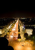 Paris, view from the Arc De Triomphe
