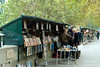 Paris: Bookstalls on the Quai des Tuileries, with the Siene and the Voie Georges Pompidou below