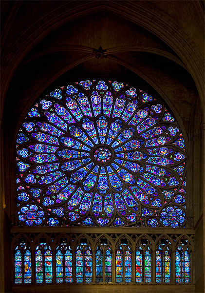 Notre Dame De Paris France Stained Glass Window The North Rose