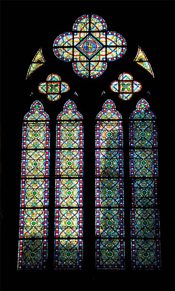 Notre Dame De Paris France Stained Glass Window
