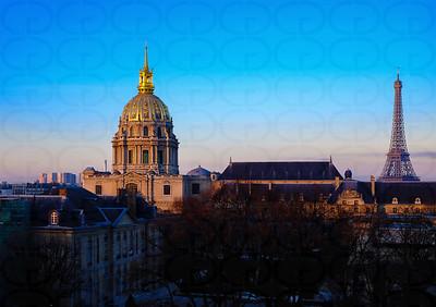 Sunrise on Les Invalides & Le Tour Eiffel