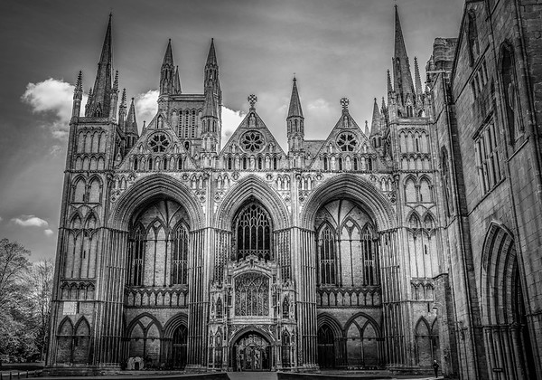 Peterborough Cathedral (B&W)