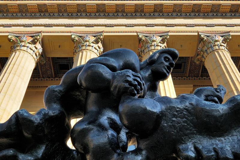 "Closeup of ""Prometheus Strangling the Vulture"""