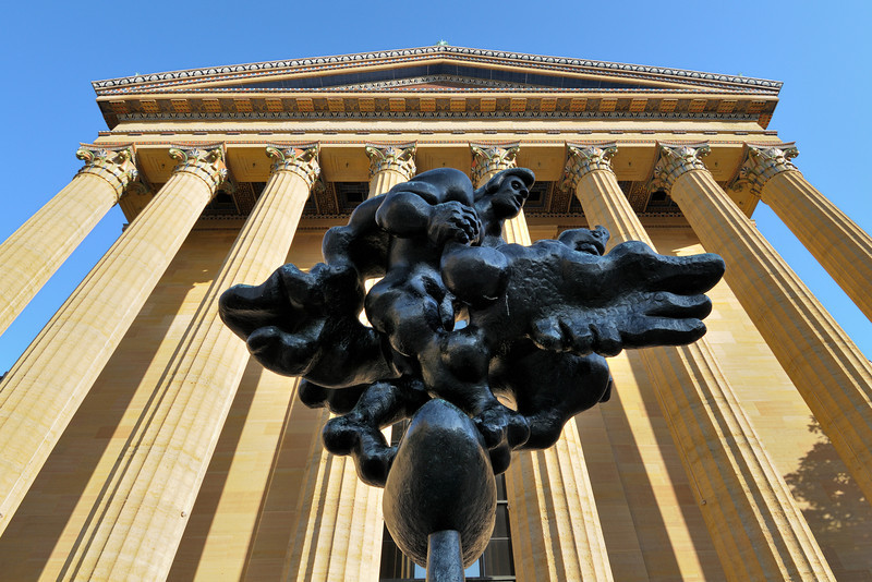 """Prometheus Strangling the Vulture"" <br /> By Jacques Lipchitz <br /> At Philadelphia Museum of Art"