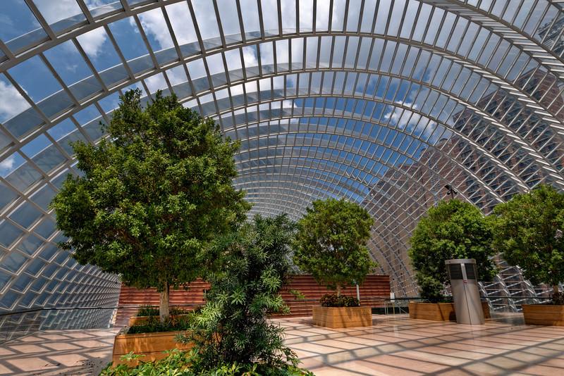 Dorrance H. Hamilton Garden, a beautiful rooftop atrium overlooks the Kimmel Center