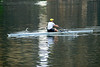 Early morning workout. Sculling on the Schuylkill River, Philadelphia, PA