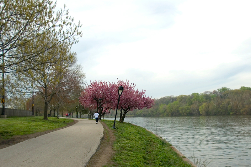 Early morning workout, along the Schuylkill River, Philadelphia, PA