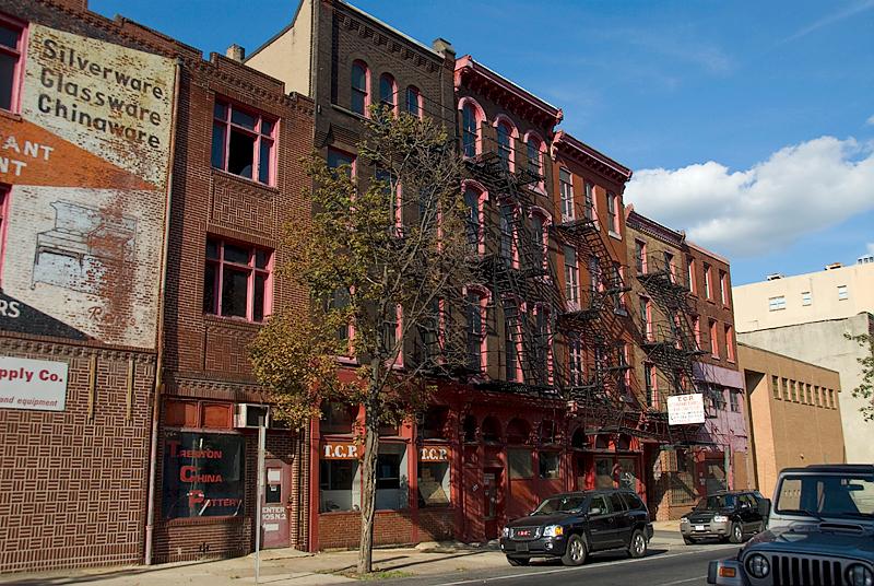 Arch Street Scene near 2nd Street