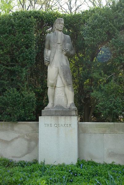 Public Art along the Schuylkill River, Philadelphia, PA<br /> Ellen Phillips Samuel Memorial Sculpture Garden - Harry Rosin (1897-1973),<br /> The Quaker (1942).