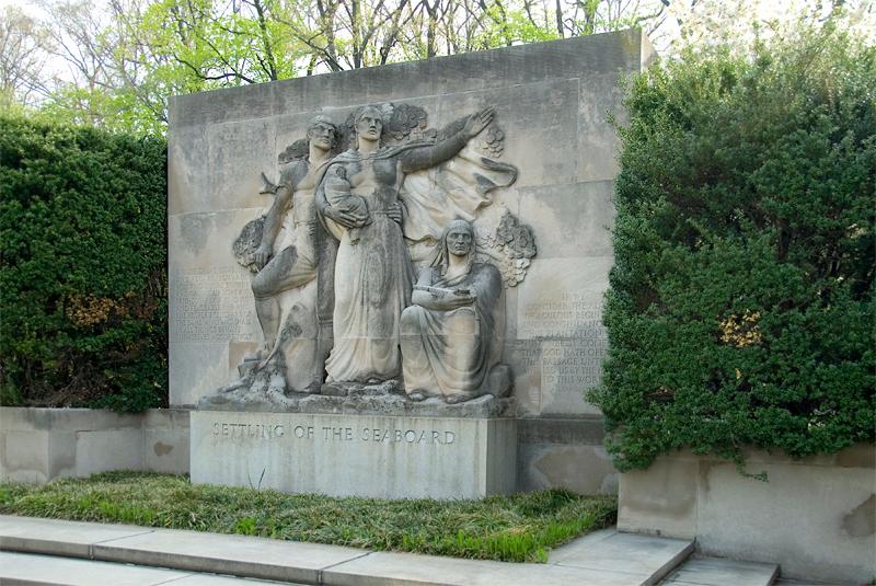 Public Art along the Schuylkill River, Philadelphia, PA<br /> Ellen Phillips Samuel Memorial Sculpture Garden - Wheeler Williams (1897-1972), Settling of the Seaboard (1942)