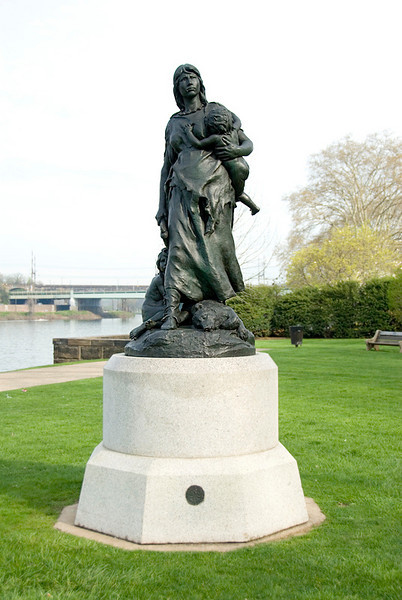 Public Art along the Schuylkill River, Philadelphia, PA<br /> John J. Boyle (1851–1917), Stone Age in America (1887)