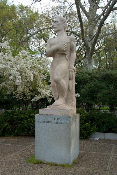 Public Art along the Schuylkill River, Philadelphia, PA<br /> Ellen Phillips Samuel Memorial Sculpture Garden - Koren der Harootian (1909-1991), The Scientist (1955)