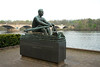 Public Art along the Schuylkill River, Philadelphia, PA<br /> John B. Kelly, Olympic Champion (The Rower) (1965), Harry Rosin (1897–1973)