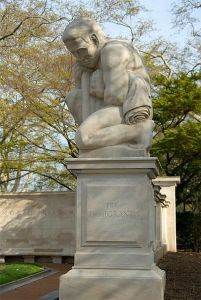 Public Art along the Schuylkill River, Philadelphia, PA<br /> Ellen Phillips Samuel Memorial Sculpture Garden - Heinz Warneke (1895-1983),<br /> The Immigrant (1940)