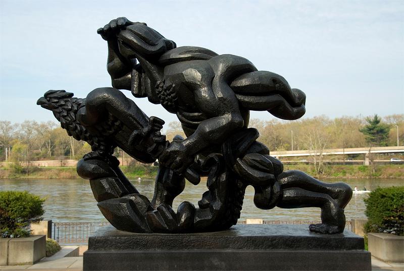 Public Art along the Schuylkill River, Philadelphia, PA<br /> Ellen Phillips Samuel Memorial Sculpture Garden - Jacques Lipchitz (1891-1973),<br /> The Spirit of Enterprise (1950-1960)