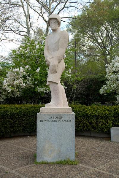 Public Art along the Schuylkill River, Philadelphia, PA<br /> Ellen Phillips Samuel Memorial Sculpture Garden - Ahron Ben-Shmuel (1903-1984),<br /> The Laborer (1958)