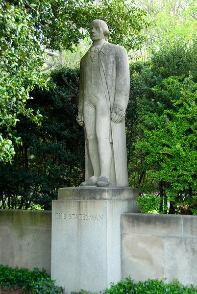 Public Art along the Schuylkill River, Philadelphia, PA<br /> Ellen Phillips Samuel Memorial Sculpture Garden - Erwin Frey (1892-1967),<br /> The Statesman (1943)