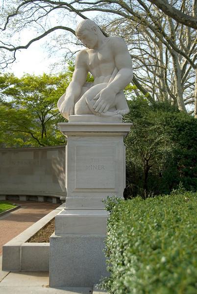 Public Art along the Schuylkill River, Philadelphia, PA<br /> Ellen Phillips Samuel Memorial Sculpture Garden - John B. Flannagan (1895-1942),<br /> The Miner (1938)