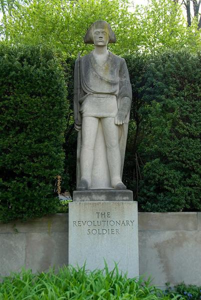 Public Art along the Schuylkill River, Philadelphia, PA<br /> Ellen Phillips Samuel Memorial Sculpture Garden - Erwin Frey (1892-1967),<br /> The Revolutionary Soldier (1943)