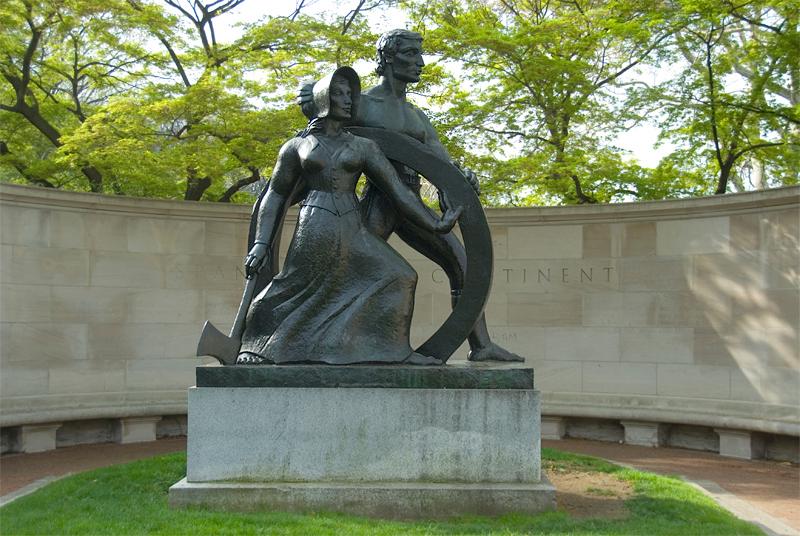 Public Art along the Schuylkill River, Philadelphia, PA<br /> Ellen Phillips Samuel Memorial Sculpture Garden - Robert Laurent (1890-1970), Spanning the Continent (1937)
