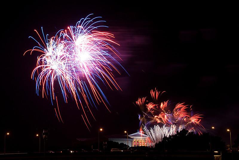 Philadelphia Museum of Art, July 4th Fireworks