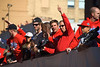 Philadelphia Phillies World Series Victory Parade 2008, Philadelphia, PA. Phillies right fielder, Jayson Werth with his cap turned backwards.