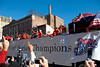 Philadelphia Phillies World Series Victory Parade 2008, Philadelphia, PA. One of the team floats in the Parade.
