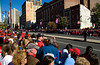 Philadelphia Phillies World Series Victory Parade 2008, Philadelphia, PA. Some of the 3,000,000 Phillies fans lining the Parade, here at Broad and Lombard in Center City Philadelphia.