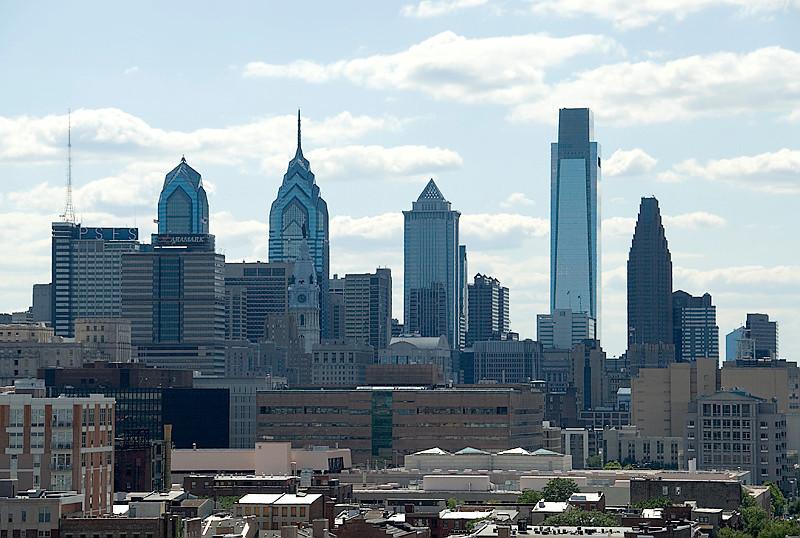 View from the Ben Franklin Bridge, Philadelphia Skyline