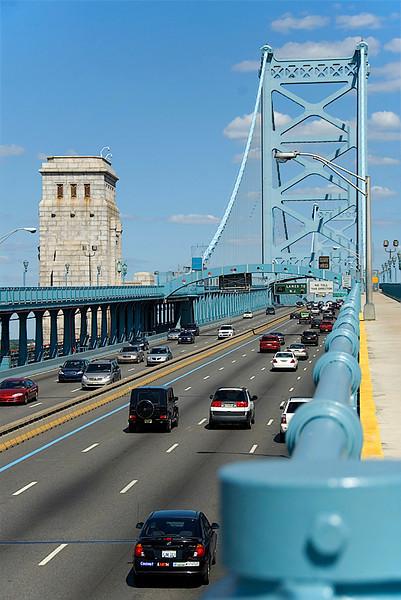 View from the Ben Franklin Bridge, Philadelphia, going home