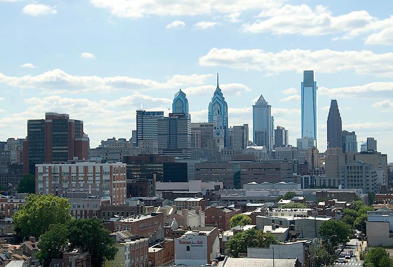View of the Philadelphia Skyline from the Ben Franklin Bridge