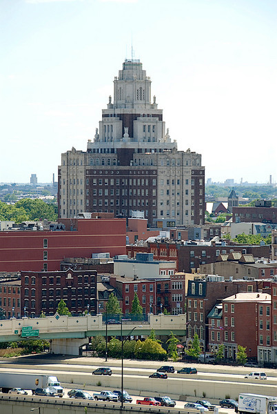 View from the Ben Franklin Bridge, Philadelphia, the Old Customs House