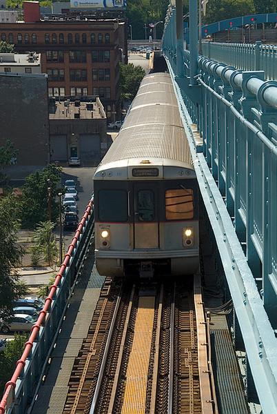 View from the Ben Franklin Bridge, Philadelphia, going home to NJ