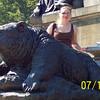 Me behind a bear statue