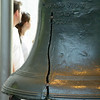 The crack in the liberty bell.