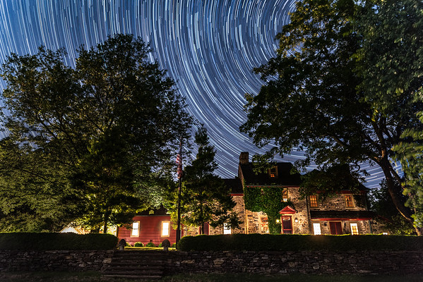 Colonial Farm House Star Trails