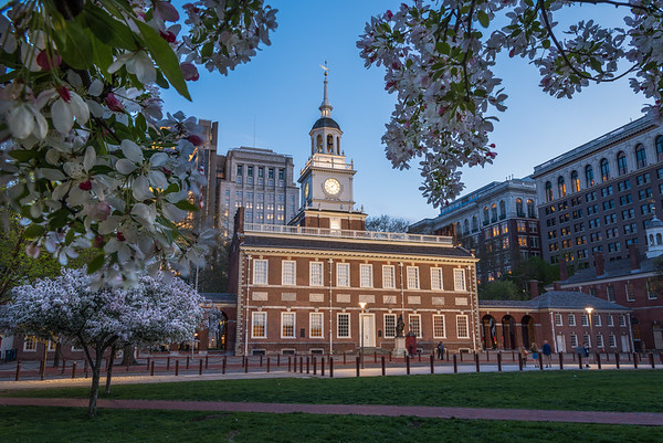 Springtime At Independence Hall