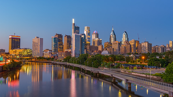 Philadelphia Golden Hour Skyline
