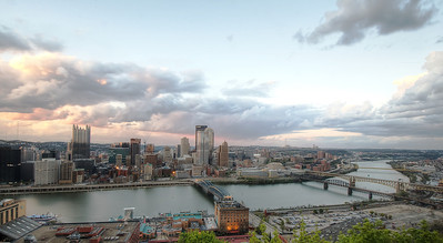 Panoramic Pittsburgh view