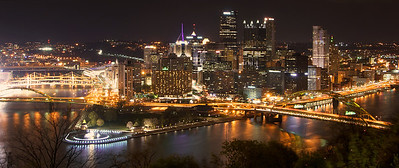 Pittsburgh, on the triangular confluence of three rivers