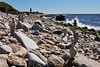 <center>Stone Cairns  <br>Point Judith - 04 September 2013<br>Narragansett, Rhode Island</center>