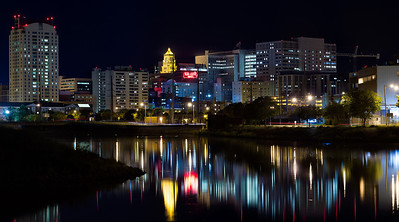 Downtown Rochester, Minnesota at Night