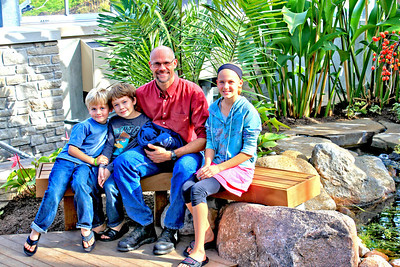 Nicholas Conservatory & Gardens - The Ekberg Family enjoying a family day.
