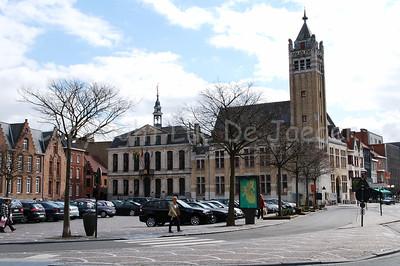 The Grand Market square in Roeselare, Belgium.