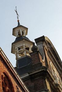 The tower on the Klein Seminarie (School) in Roeselare, Belgium.
