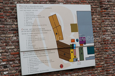 The map of the Rodenbach Brewery in Roeselare, Belgium.