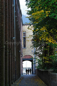 A sideway along the National Bicycle Museum in Roeselare, Belgium.