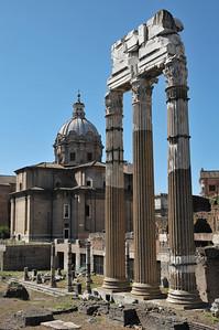 Foro Romano, Tempio dei Dioscuri (495 BC)